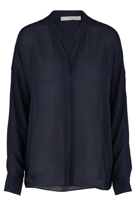 Vince Double Front Blouse in Coastal