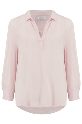 Velvet Eliza Top in Pale Pink