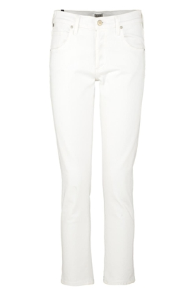 Citizens of Humanity Jeans Elsa Cropped Girlfriend Jean in Optic White
