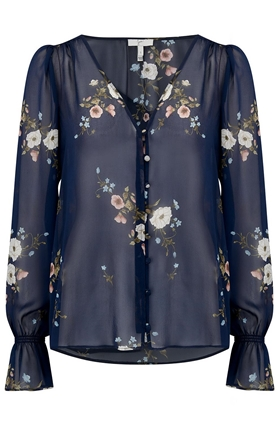 Joie Bolona C Blouse in Midnight Floral