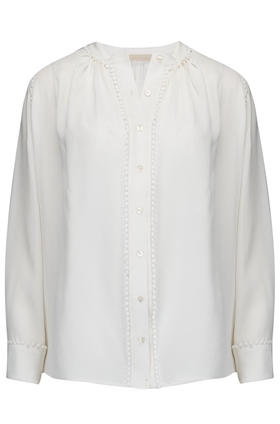 Loucia Silk Blouse in Cream