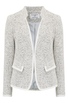 Helene Berman Notch Collar Jacket in Cream