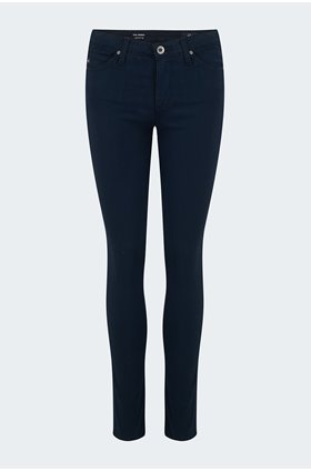 prima cropped jean in dark navy sateen