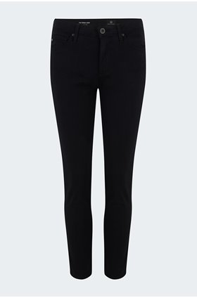 prima cropped jean in black sateen