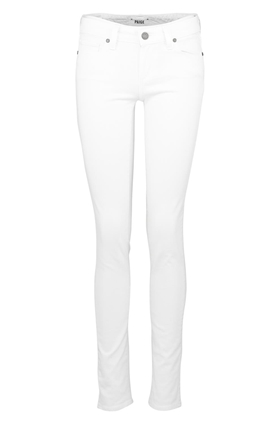 Paige Skyline Skinny Ankle Peg in Optic White