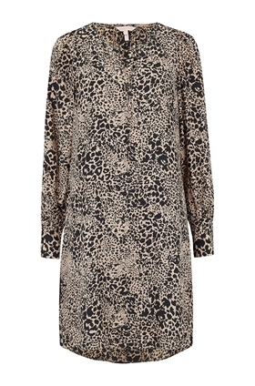 Rebecca Taylor Leopard Dress in Champagne Combo