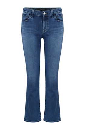 J Brand Selena Cropped Bootcut Jean in Polaris Destruct