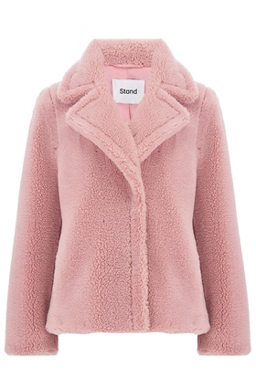 Stand  Marion Faux Shearling Jacket in Pink