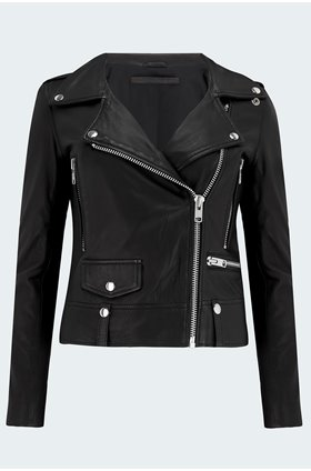 seattle biker jacket in black