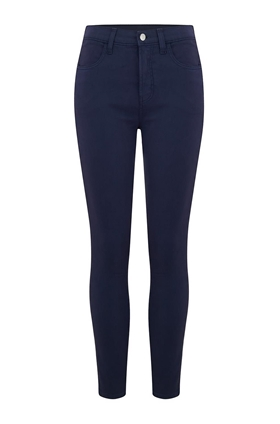 J Brand Alana High Rise Cropped Jean in Rugby Blue