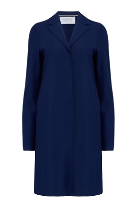 Boxy Coat in Ink Blue