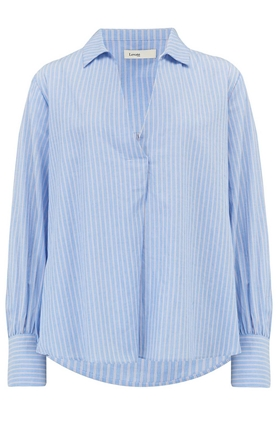 Levete Room  Evelyn Shirt in Pink and Blue