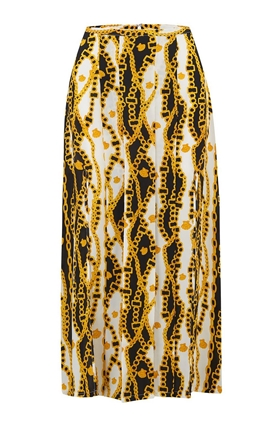 Rixo Georgia Shell Chain Print Skirt