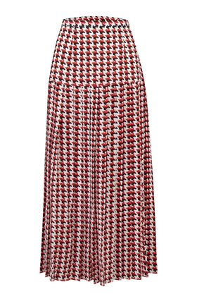 Rixo Tina Skirt in Houndstooth