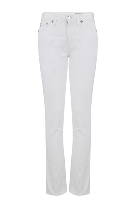 AG Jeans Mari Straight Leg Jean in 1 Year Tonal White