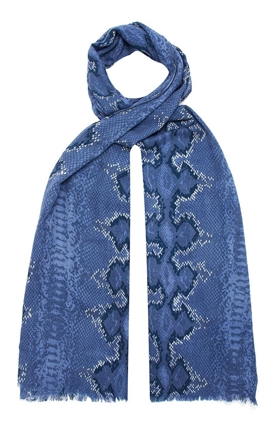 Signature Scarf in Bluebell Python
