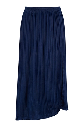 Vince Mixed Pleated Skirt in Hydra