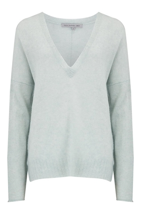 360 Sweater Rylee V-Neck Jumper in Mint