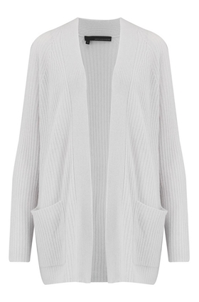 Hayley Long Cardigan in Salt
