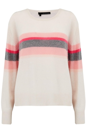 Christina Stripe Jumper in Chalk Multi