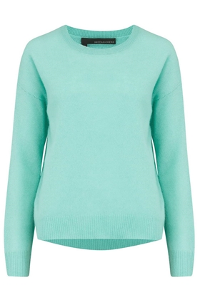 360 Sweater Camille Round Neck Jumper in Seagreen
