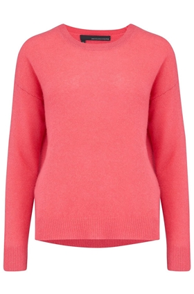 Camille Round Neck Jumper in Raspberry