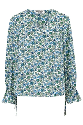 Essentiel Antwerp Scarlett Floral Print Top in White