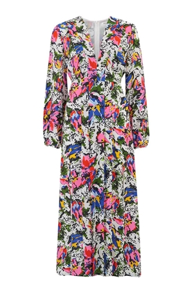 Rixo Camellia Midi Dress in Floral Daisy