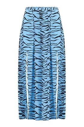 Georgia Skirt in Blue Tiger