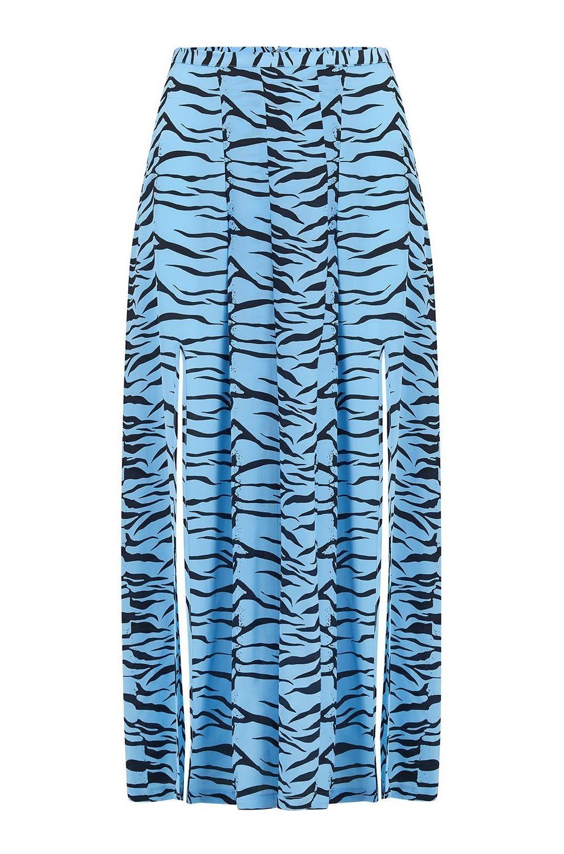 1546b796bd40 Rixo Georgia Skirt in Blue Tiger -
