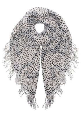 DOUCE GLOIRE Python Scarf in Light Grey
