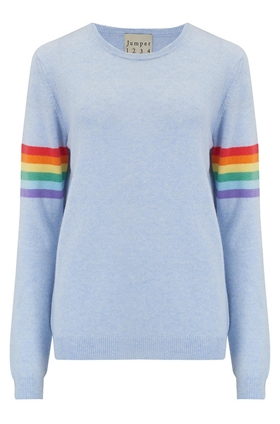 Summer Rainbow Jumper in Sky Marl