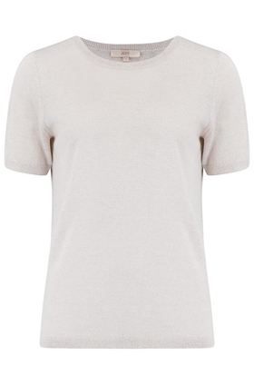 Emery Short Sleeve Jumper in Cream