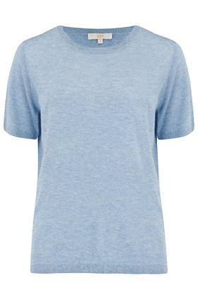 Emery Short Sleeve Jumper in Pale Blue