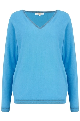 Abbott V Neck Jumper in Caraibes