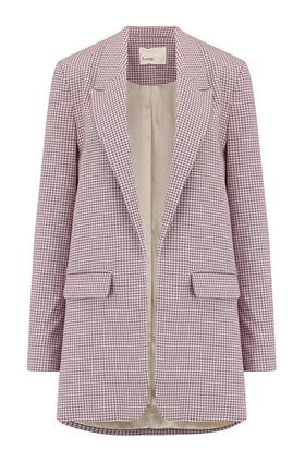 Levete Room  Elina Blazer in Grey Check