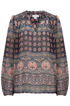 Velvet Shana Top in Multi Moroccan Print