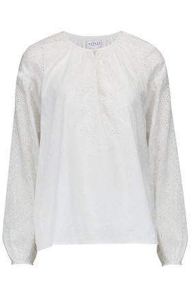 Victoria Cotton Eyelet Top in White