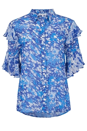 Frankie Top in Forget Me Not Blue