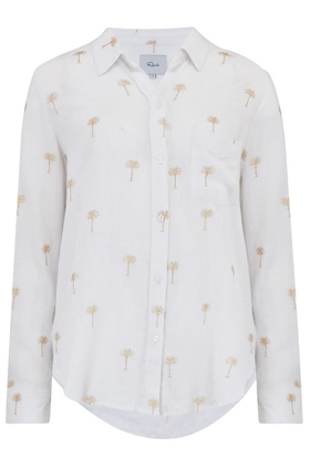 Charli Shirt in Golden Palms
