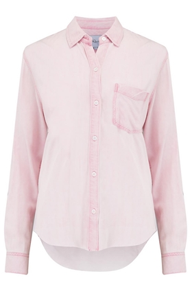 Rails Ingrid Raw Hem Shirt in Dusty Rose