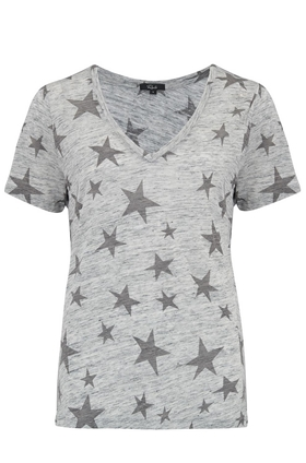 Rails Cara T-Shirt in Heather Grey and Charcoal Stars