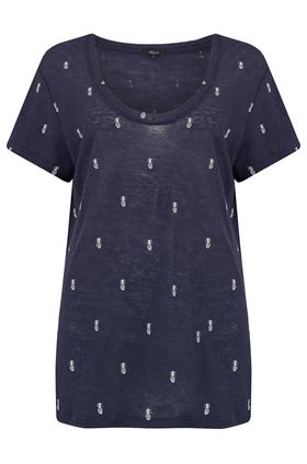 Rails Luna T-Shirt in Navy and White Mini Pineapples