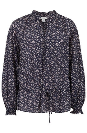 Joie Senaya Floral Blouse in Midnight