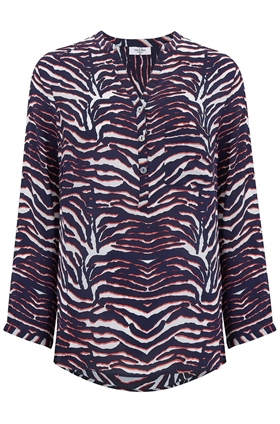 Stanford Blouse in Zebra Print