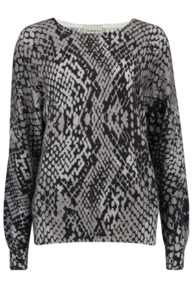 Jumper1234 Snake Print Jumper in Grey