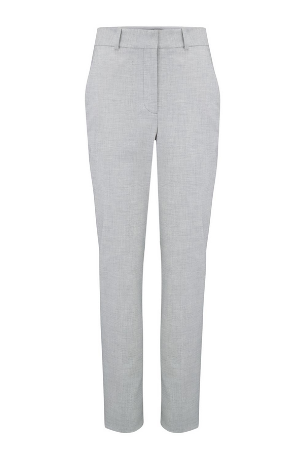 clean suit pant in light heather grey