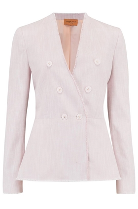 Tailored by Rebecca Taylor  Slub Suit Jacket in Rose