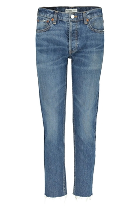 relaxed crop jean in medium