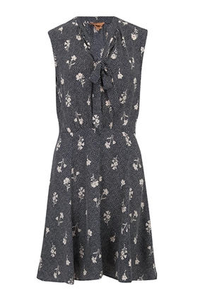 Tailored by Rebecca Taylor  Sleeveless Wildflower Dress in Navy Combo